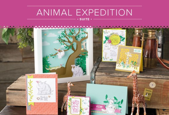 See the coordinating products in the Animal Expedition Suite at www.lyndafalconer.stampinup.net