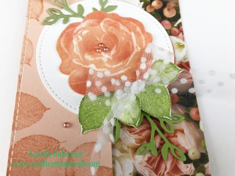 Closeup of embellishment on Healing Hugs Z Card by Lynda Falconer at www.lyndafalconer.stampinup..net