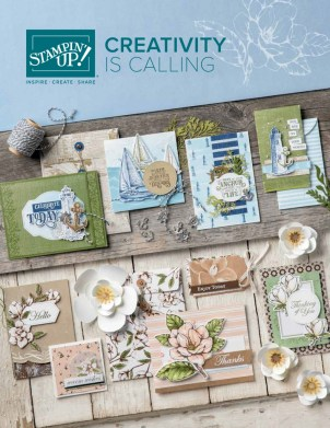 New 2019-2020 Stampin Up Annual Catalog. Get yours by emailing Lynda Falconer at lynda@crafterinspired.com