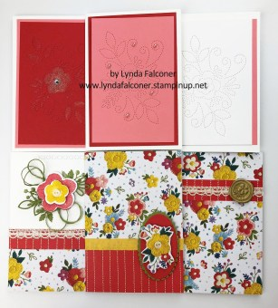Notecards for clutch purse by Lynda Falconer using Needlepoint Nook DSP www.lyndafalconer.stampinup.net