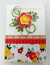 Card for clutch purse using Needlepoint Nook Suite by Lynda Falconer at www.lyndafalconer.stampinup.net