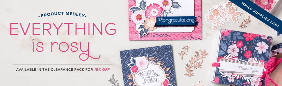 Everything is Rosy is on sale at https://www.stampinup.com/ecweb/product/150059/everything-is-rosy-product-medley?dbwsdemoid-2118979 while supplies last at