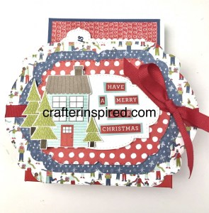 Learn to make this darling card holder and 4 cards in a free class at www.crafterinspired.com/coming-home-class