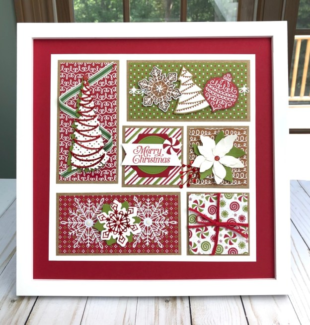 Christmas sampler by Lynda Falconer at lyndafalconer.stampinup.net with Gingerbread & Peppermint product suite.