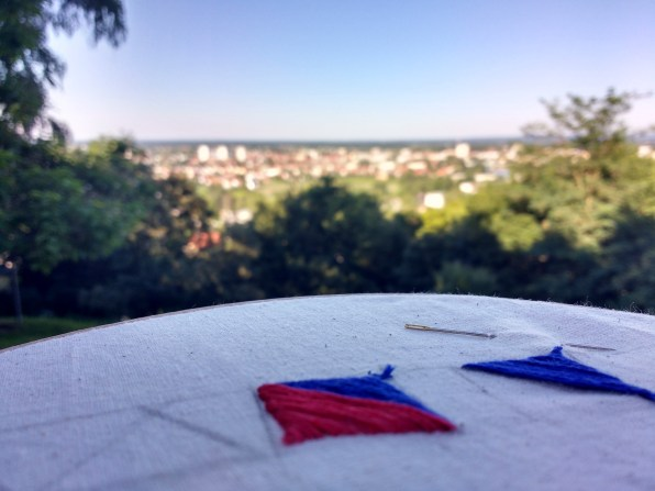 Embroidery with a view