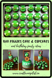 Amazing Bad Piggies Cake & Cupcakes & Party Ideas