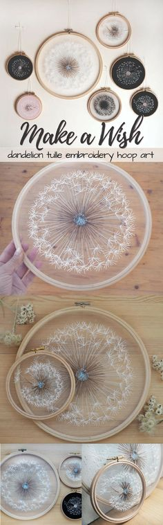 So cool! These dandelion embroidery hoop art pieces are amazing! I wonder if I could make one myself?! Such a great idea! Check out all of craft evangelist's mother's day gift suggestions.