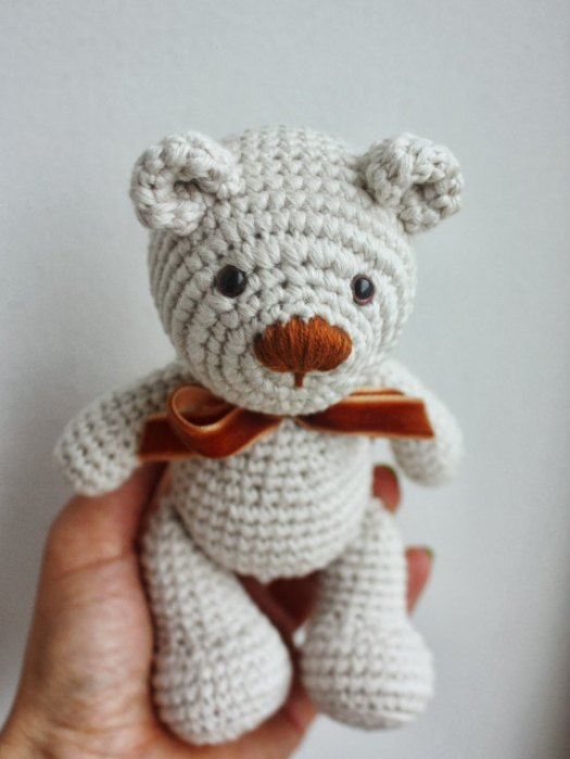 Crocheted Teddy Bear Pattern by Tiny Amigurumi on Etsy