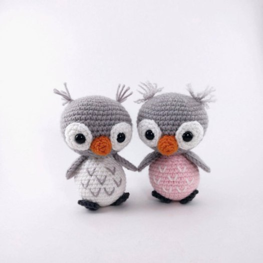 Adorable baby owls crochet amgirumi pattern - one of craftevangelist's daily finds