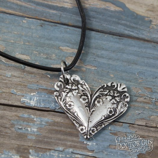 Necklace pendant inspired by antique victorian silverware! What a great idea! So beautiful! I bet my mom would love something like this!