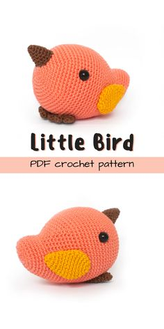 Little Bird Amigurumi Pattern - I love this simple little bird amigurumi crochet pattern! It would make a lovely, minimalist, handmade, Waldorf-style gift for a baby or child!