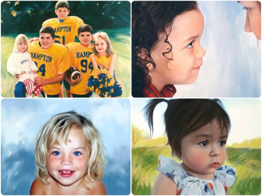 Wow! This artist does amazing work! Custom portraits from just $135.00! This would make such a lovely mother's day gift for my mom! She'd love to have a painting of my kids! Check out craft evangelist's other mother's day gift ideas.