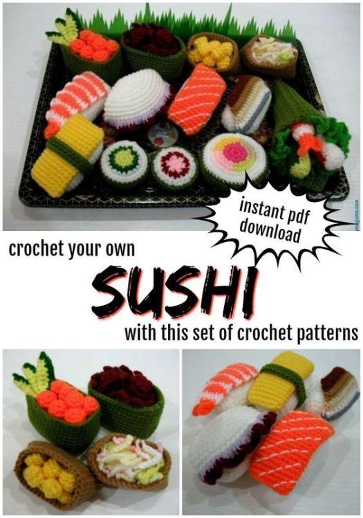 SUSHI! Such a fun play food idea!