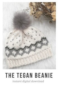 Love this CROCHET pattern for a this gorgeous winter beanie (toque) pattern! Winter comes every year. It's never too early to start on next winter's next hat, right?