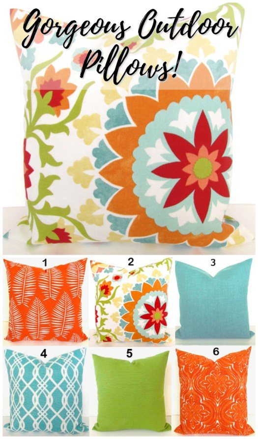 Gorgeous pillows! So bright and perfect for the deck!  Great summer pick by #craftevangelist