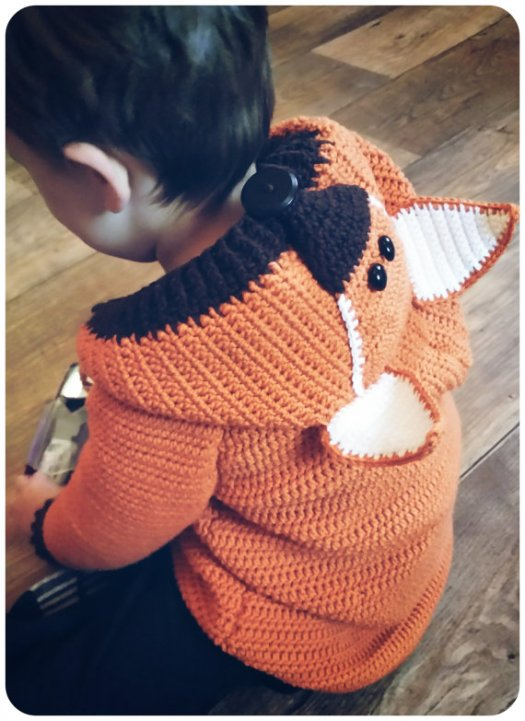 Summer is a great time to start fall projects! Check out this adorable fox cardigan for kids! One of #craftevangelist's top 10 summer Etsy picks!
