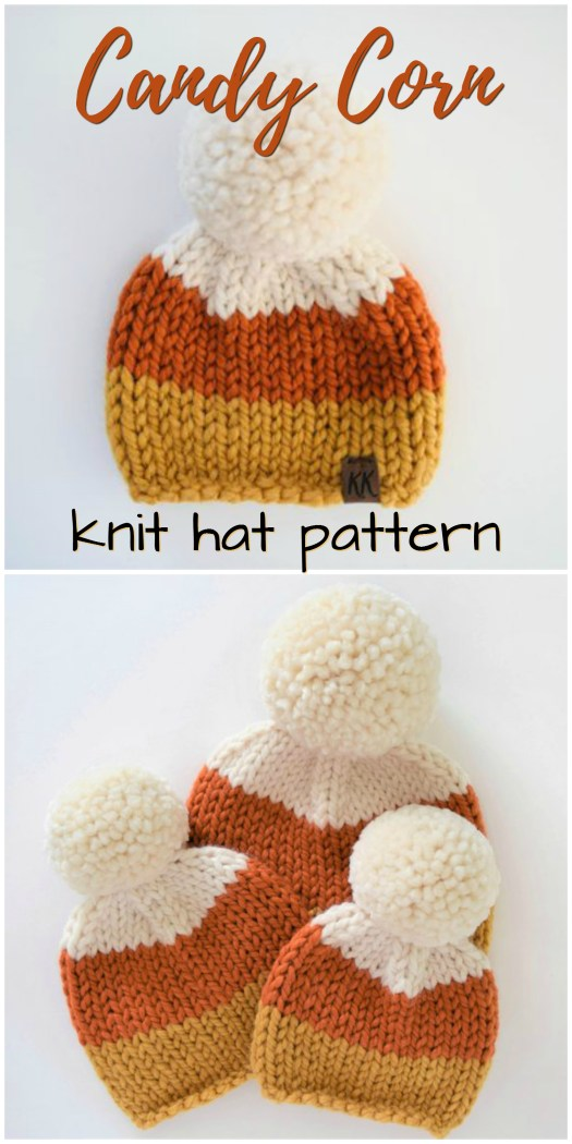 Such a sweet knit hat inspired by candy corn! An adorable hat in all sizes, perfect for fall! Check out this hat along with #craftevangelist's other fall hat finds!