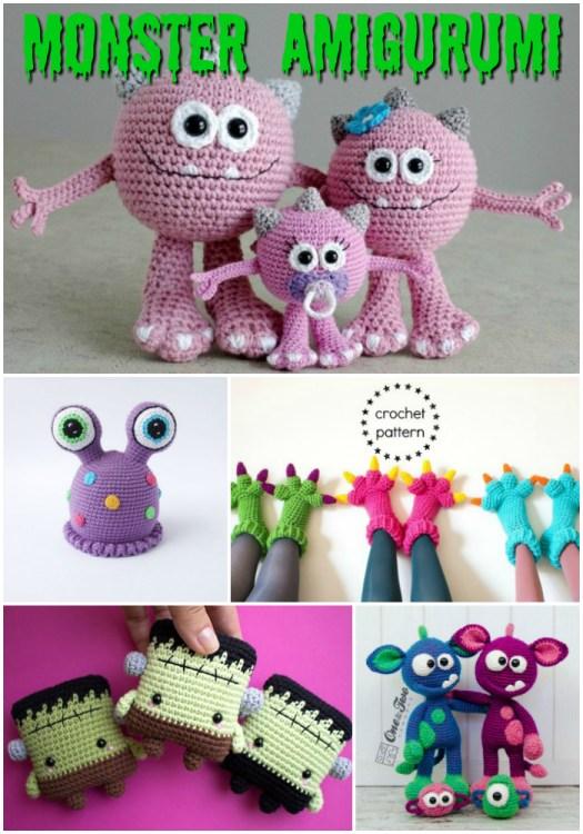 Free Crochet Pattern for Melvin the Monster ⋆ Crochet Kingdom | 750x525
