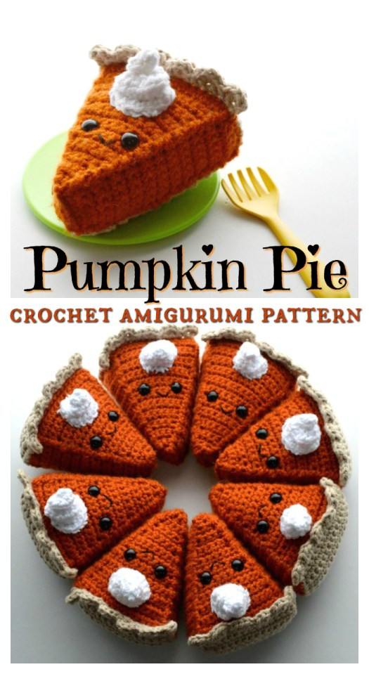 I love this sweet little pumpkin pie amigurumi crochet pattern! Kawaii crochet is such a fun kids' play food idea! Perfect for Thanksgiving! And low in calories!
