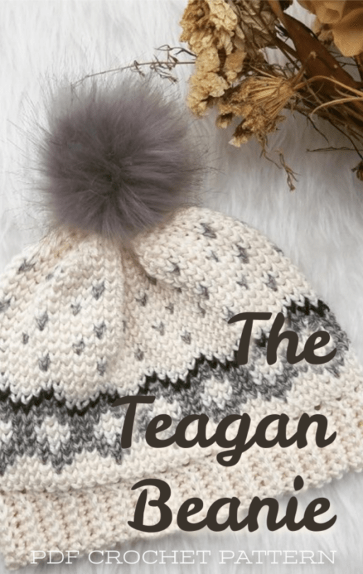 Check out this great CROCHET PATTERN for this fantastic winter hat! Great project to work on this fall #yarn #crochet #pattern #hat #crafts #toque #beanie #diy