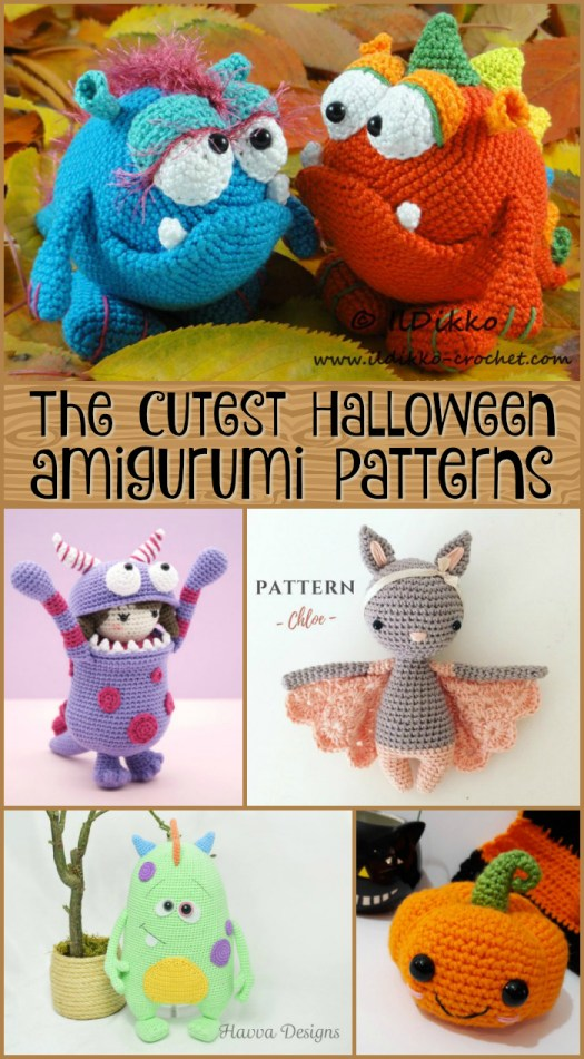 Crochet Halloween Amigurumi Free Patterns Instructions | 951x525