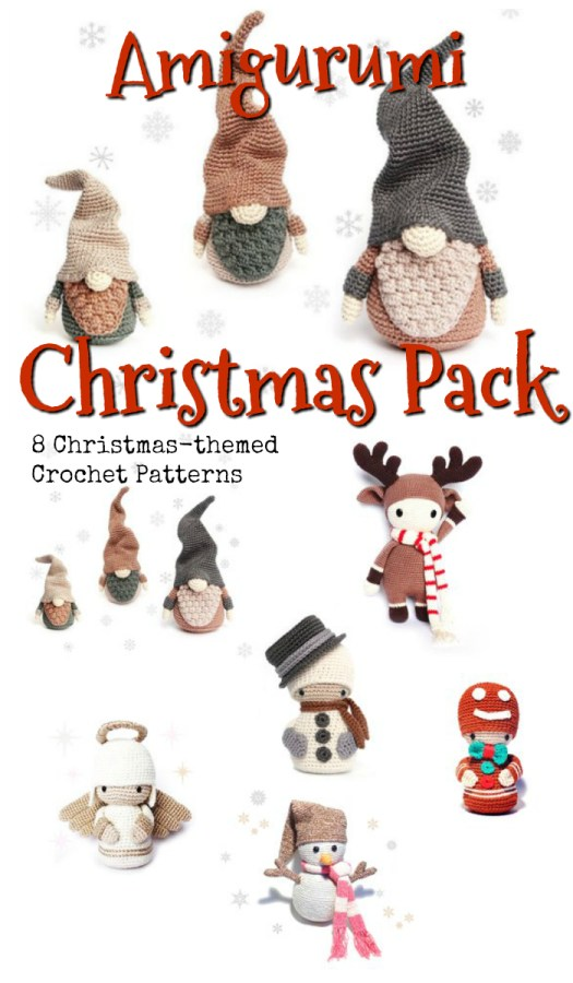 Great Amigurumi Christmas Pack of Patterns by RoKiKi! I love all these patterns! How can I pick one? And great bundled price! #crochet #patterns #amigurumi #holiday #christmas #stuffies #toys #handmade #gift #ideas #yarn #crafts #craftevangelist