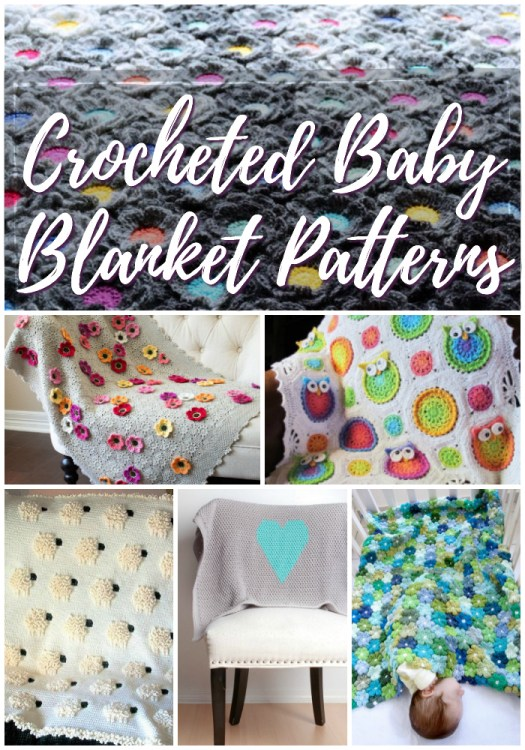 8 Gorgeous Baby Blanket Crochet Patterns to make! I love all the floral pops of colour in these beautiful afghans! #crochet #pattern #blankets #baby #craftevangelist #yarn
