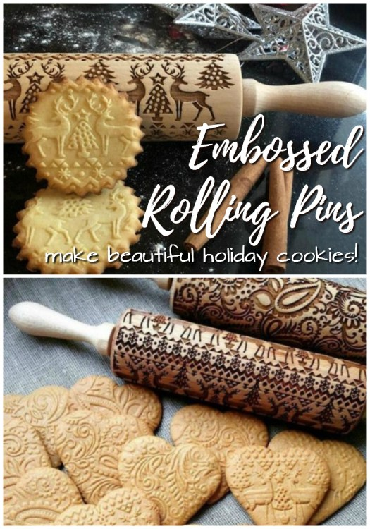 Such a great gift idea for the baker! I love these embossed rolling pins! Make beautiful cookies with ease! #baking #rollingpin #custom #embossed #handmade #giftideas #craftevangelist