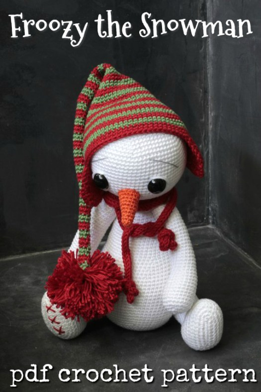Make this sad little snowman happy again by picking up his pattern and making him for a friend! #crochet #patterns #amigurumi #holiday #christmas #stuffies #toys #handmade #gift #ideas #yarn #crafts #craftevangelist