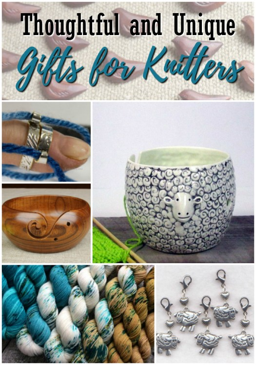 Lots of thoughtful and unique gift ideas for knitters! I love the sheep yarn bowl! So cute! #knitting #gifts #giftideas #christmas #craftevangelist