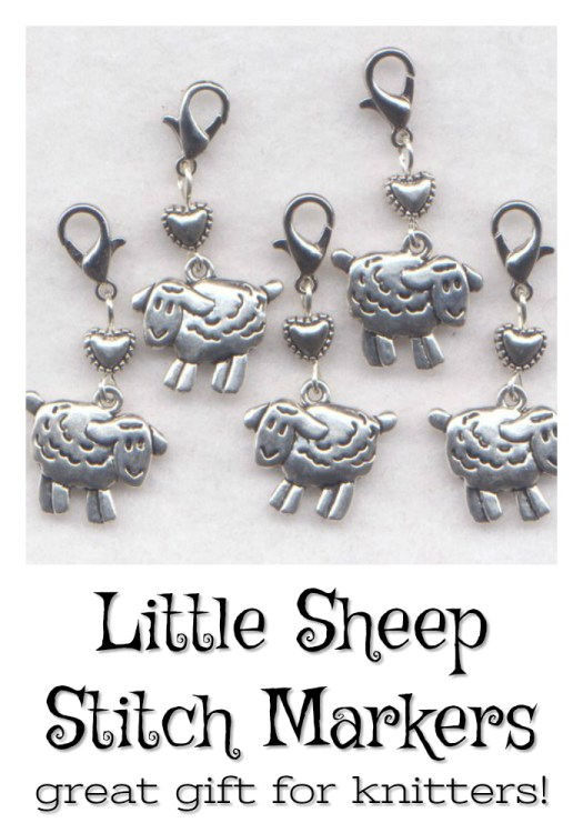 Adorable little sheep stitch markers! These are so adorable and practical! great stocking stuffer for a knitter! #stitchmarker #handmade #independentartisan #uniquegifts #giftideas #giftsforknitters #craftevangelist