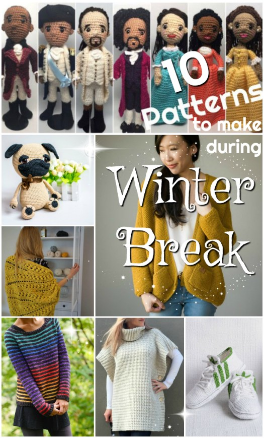 Pattern round up of larger projects for a cosy time of winter break knitting or crocheting. Which project would you choose? #crochet #knitting #knit #pattern #patterns #amigurumi #cardigans #yarn #crafts #diy #craftevangelist