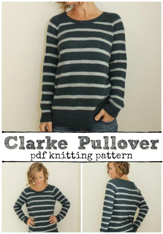 Super cute and stripey raglan top-down knit pullover pattern! I love this sweater! Such a classic looking pattern! Nice casual fit. #sweater #knitting #pattern #knit #pullover #jumper #yarn #crafts #craftevangelist