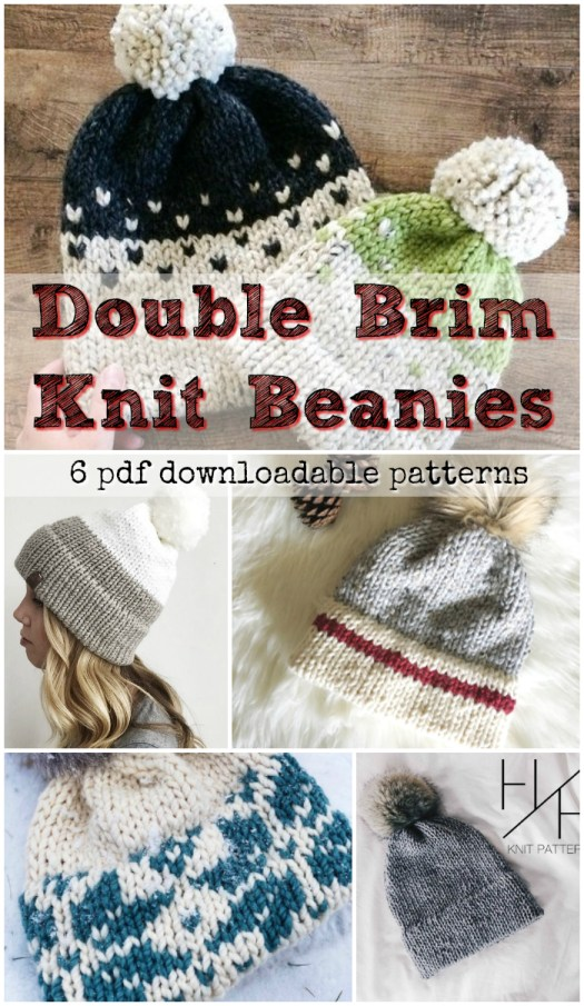 Learn to knit a double brim beanie! Seamless options with provisional cast  on instructions and 6d5b9fa325a