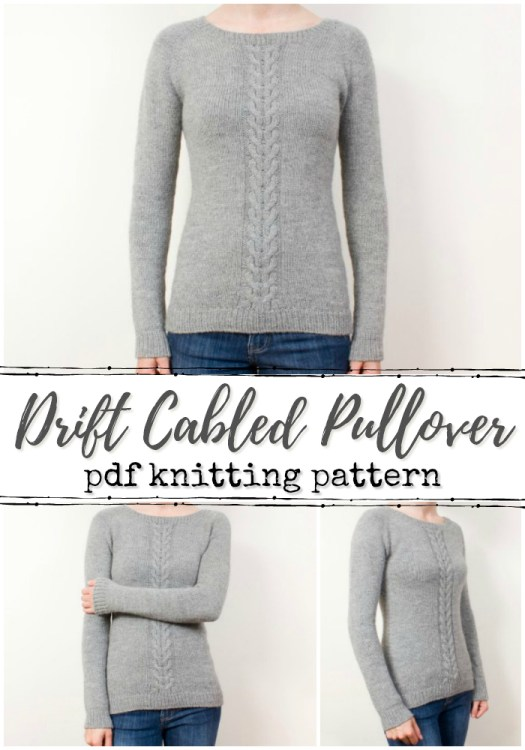 Gorgeous simple, but classic cable knit pullover pattern! I love the delicate cable down the centre! Great classic top-down seamless sweater knitting pattern! #knit #sweater #pattern #knitting #jumper #yarn #crafts #women #craftevangelist