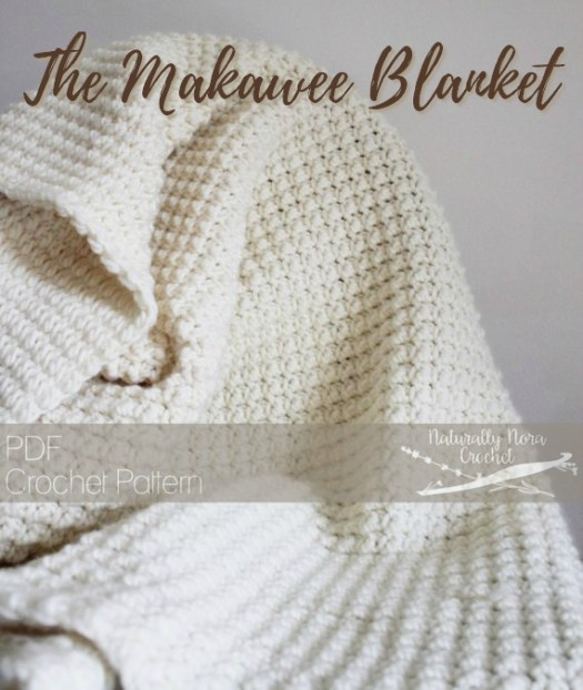 The Makawee Blanket crochet pattern. Perfect textured crochet stitch pattern for this dreamy baby blanket! Gorgeous! #crochet #blanket #pattern #yarn #crafts #baby #babyblanket #afghan #craftevangelist