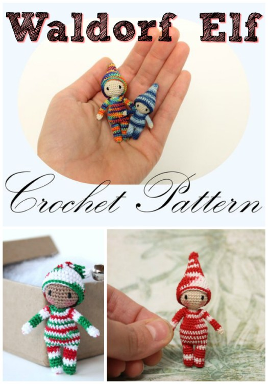 What a sweet, oh-so-teeny-tiny little waldorf elf crochet pattern! Love this little character! How do they even make it so small?! #crochet #amigurumi #pattern #tiny #yarn #crafts #craftevangelist