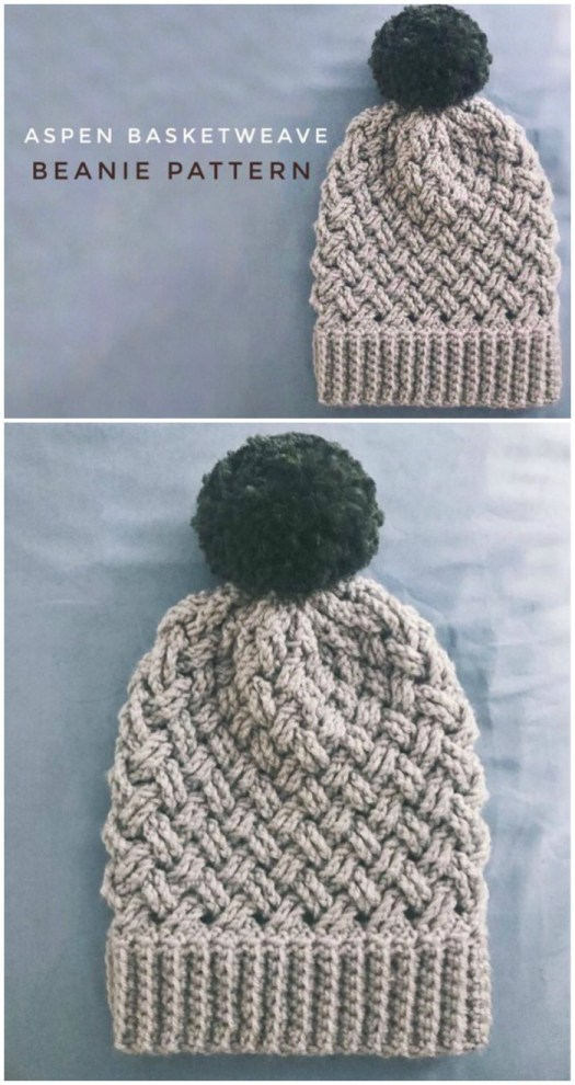 I love the basketweave pattern on this aspen basketweave crocheted beanie pattern. I can't wait to crochet up this lovely textured slouchy toque crochet pattern! #crochetpattern #yarn #crochet #pattern #diy #crafts #slouchy #beanie #toque #hat #winterhat #craftevangelist