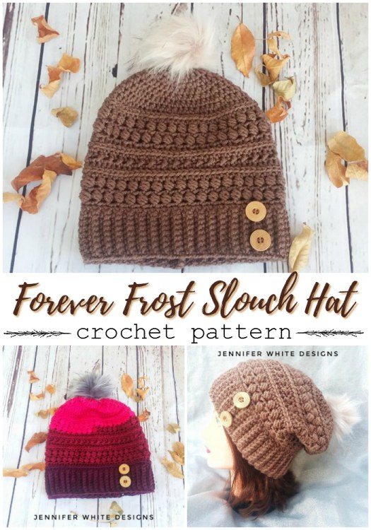 Slouchy textured crochet hat pattern  with buttons! How cute is this chunky beanie?!  #crochet #pattern #crochetpattern #crochethat #crochetbeanie #crochettoque #beaniepattern #hatpattern #toquepattern #yarn #crafts #craftevangelist