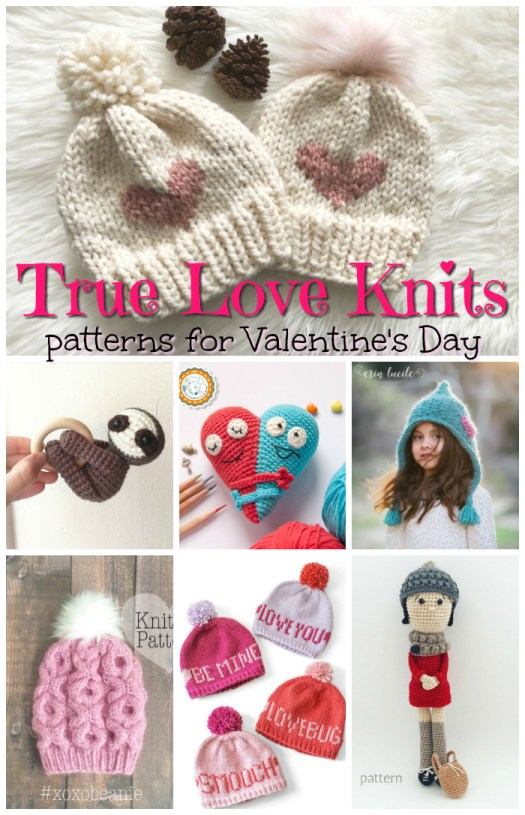 Eight Sweet Patterns to knit and crochet for your sweetheart for Valentine's Day! I love that xoxo hat! So adorable! #knitting #crochet #patterns #knittingpattern #crochetpattern #handmadegiftideas #hats #toques #beanies #toys #yarn #crafts #craftevangelist