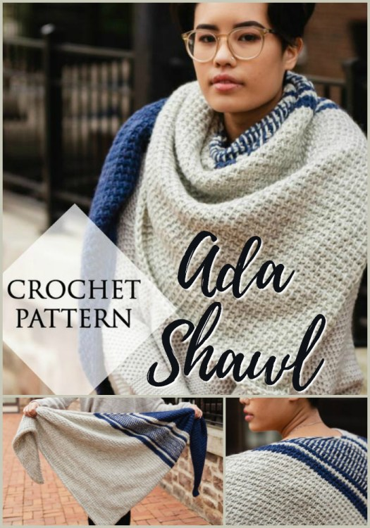 Gorgeous Tunisian crochet shawl pattern by TLYarnCrafts. I love her designs! So pretty. I need to make this shawl! #crochet #yarn #crafts #shawl #scarf