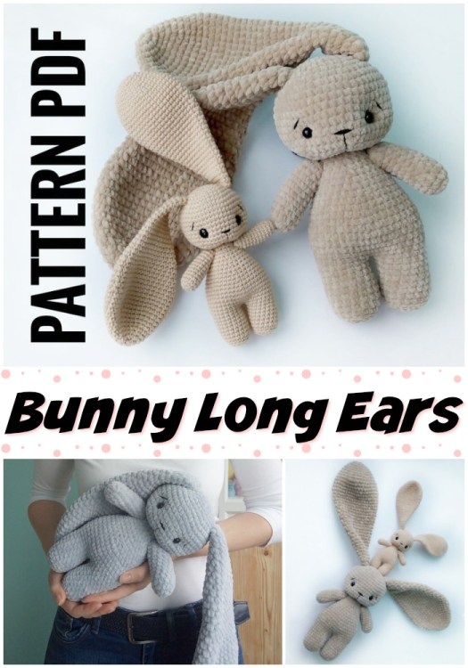 I so want to make this long-eared crocheted amigurumi bunny pattern for my son this Easter! So adorable! #crochet #pattern #amigirumi #yarn #crafts #amigurumipattern #crochetpattern #handmadetoys #craftevangelist