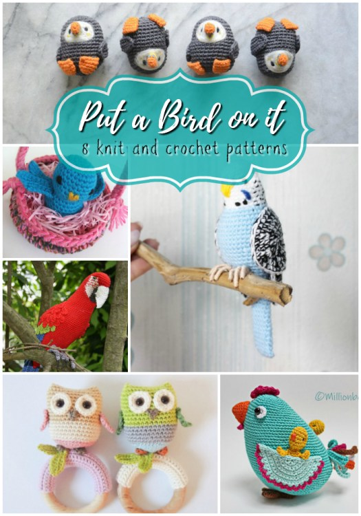 8 cute knit and crochet patterns of birds! Love these adorable puffins! So cute! #crochet #amigurumi #yarn #crafts #amigurumipattern #crochetpattern