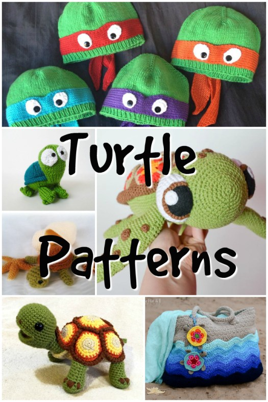 Ten adorable turtle inspired patterns to knit and crochet! Turtles are so cute! Time to make some handmade turtles!!! #crochet #knit #pattern #amigurumipattern #crochetpattern #knittingpattern #yarn #crafts #craftevangelist