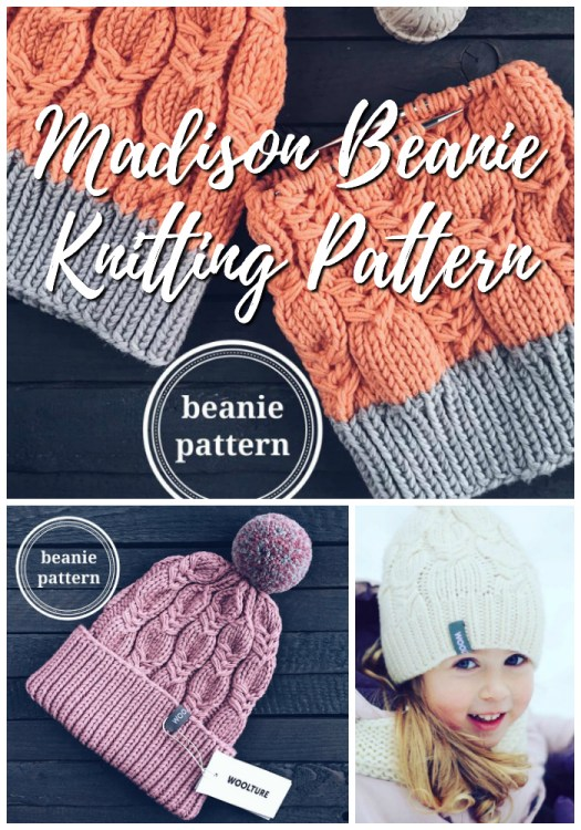 Knitting Pattern for textured beanie. Love this gorgeous knit hat pattern! Can't wait to make one of these for winter! #knitting #pattern #knittingpattern #knitbeanie #beaniepattern #yarn #crafts #craftevangelist