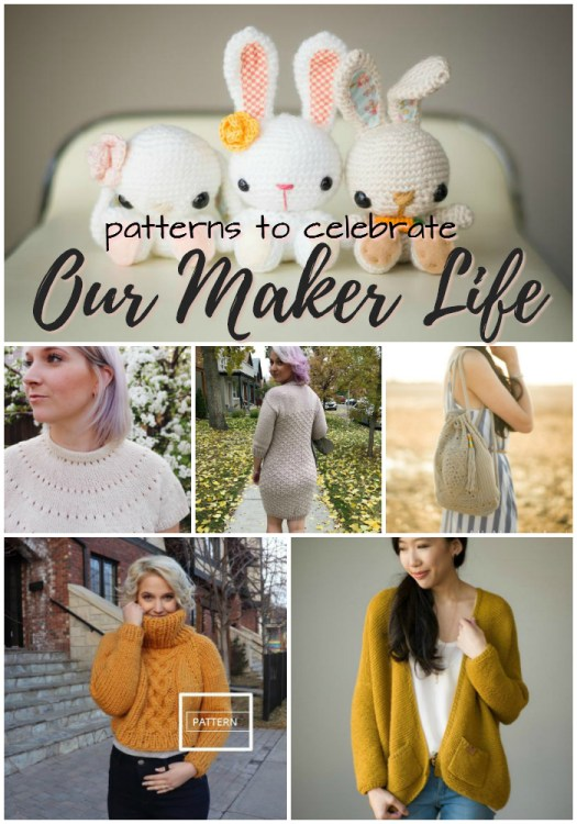 Our Maker Life! Patterns by the two keynote speakers from OML 2019! Love these gorgeous patterns and adore these fantastic designers! #OML2019 #yarn #crafts #knitting #crochet #patterns #ourmakerlife #allaboutami #knitatude #craftevangelist