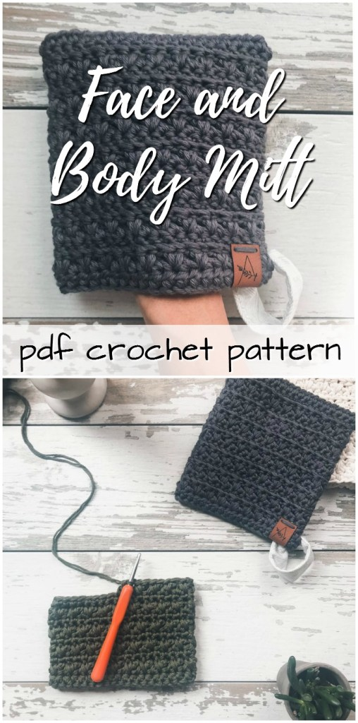 Lovely simple face and body mitt crochet pattern. Perfect summer crochet project for travelling. Makes a great handmade gift! #crochetpattern #crochet #pattern #yarn #crafts #body #craftevangelist
