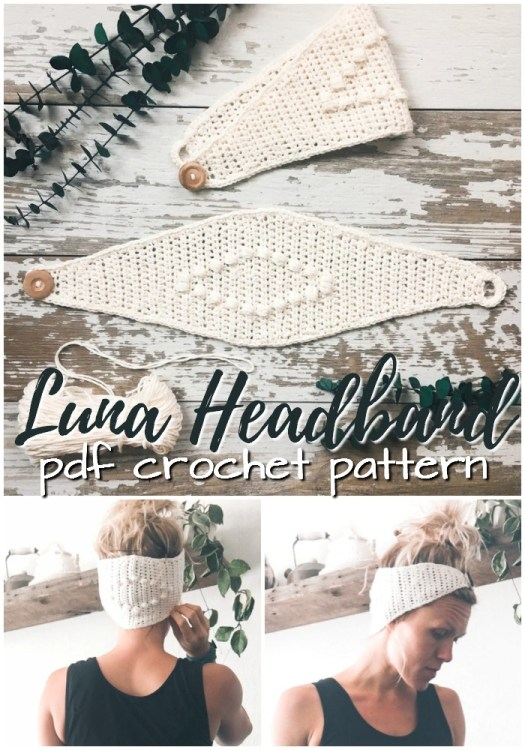 Beautiful boho crocheted headband pattern. Love this quick and easy pattern, perfect for summer. Simple crochet pattern for a beginner. #crochetpattern #crochetsummer #crochetheadband #yarn #crafts #crochet #pattern #craftevangelist
