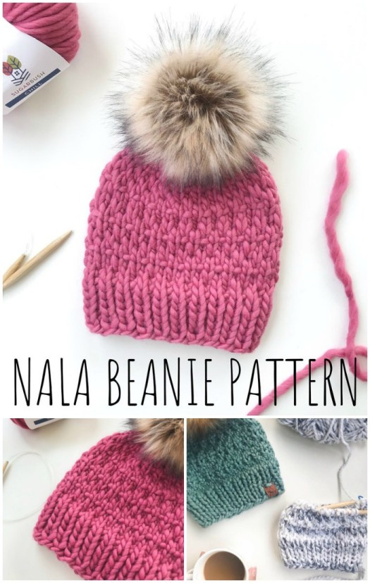 Love this textured super warm knitted beanie pattern! So great to get a head start on fall! #knitting #knittingpattern #knithat #hatpattern #yarn #crafts #craftevangelist