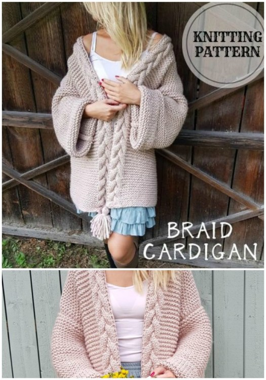Chunky cable knit oversized cardigan knitting pattern. This looks so cozy! #cardiganpatterns #cardigan # knitcardigan #knittingpattern #craftevangelist